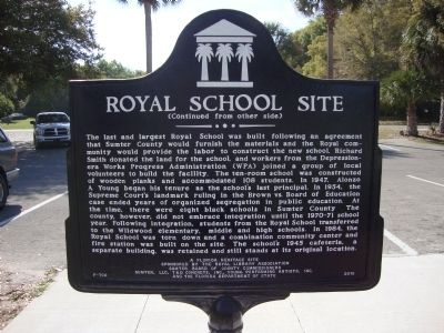 Royal School Site Marker image. Click for full size.