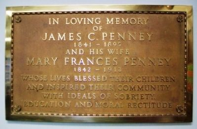 Marker in J. C. Penney Memorial Library image. Click for full size.
