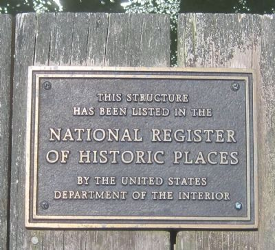 This bridge is listed in the National Register of Historic Places image. Click for full size.