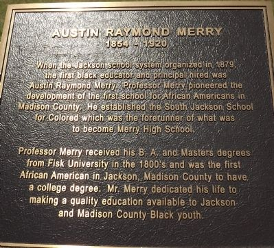 Austin Raymond Merry Marker image. Click for full size.