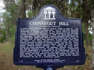 Chinsegut Hill Marker image. Click for full size.