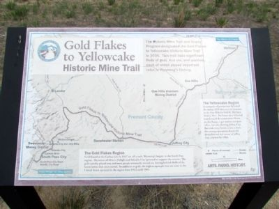 Gold Flakes to Yellowcake Historic Mine Trail Marker image. Click for full size.