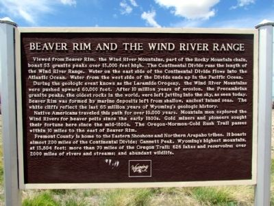 Beaver Rim and the Wind River Range Marker image. Click for full size.