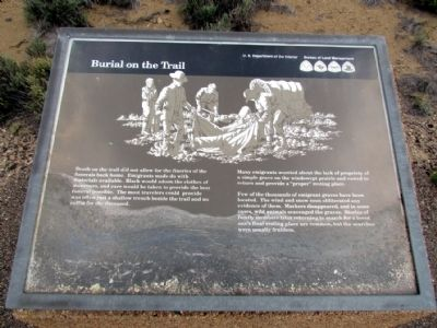 Burial on the Trail Marker image. Click for full size.