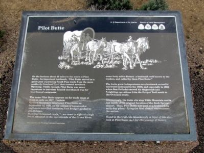 Pilot Butte Marker image. Click for full size.