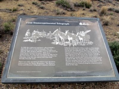 First Transcontinental Telegraph Marker image. Click for full size.