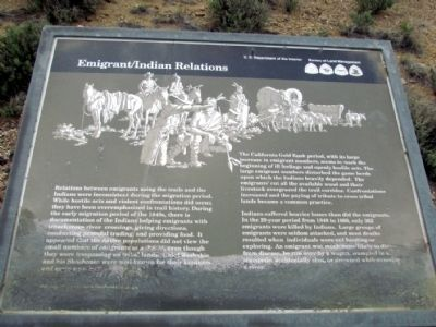 Emigrant/Indian Relations Marker image. Click for full size.