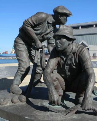 The Fishermen's Monument at the Terminal Island Japanese Memorial image. Click for full size.