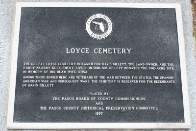Loyce Cemetery Marker image. Click for full size.