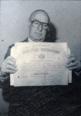 Montgomery County School Certificate image. Click for full size.
