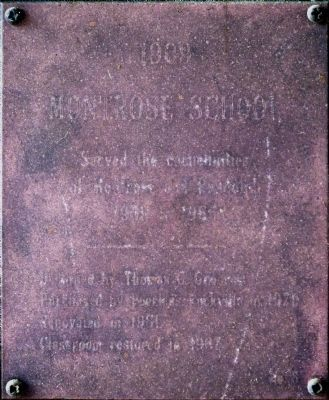Copper Plaque (nearly unreadable) image. Click for full size.