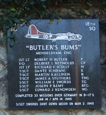 Butler's Bums Marker image. Click for full size.