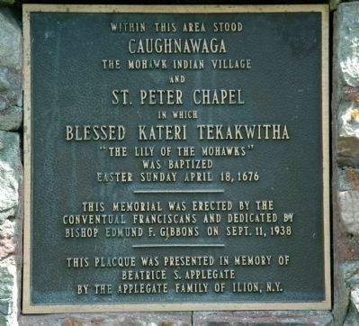 Caughnawaga Plaque image. Click for full size.
