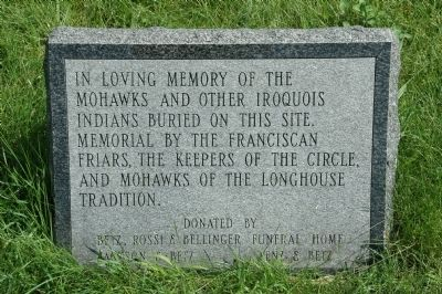 Memorial to the Mohawks image. Click for full size.