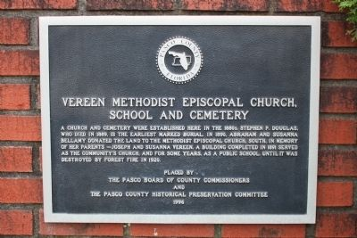 Vereen Methodist Episcopal Church, School and Cemetery Marker image. Click for full size.