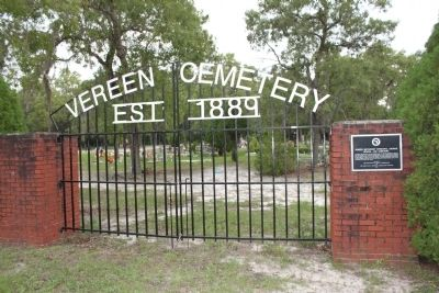 Vereen Methodist Episcopal Church, School and Cemetery Entrance image. Click for full size.
