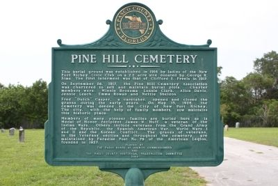 Pine Hill Cemetery Marker image. Click for full size.