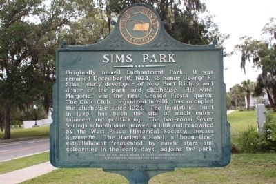 Sims Park Marker image. Click for full size.