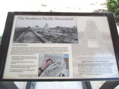 The Southern Pacific Monument Marker image. Click for full size.