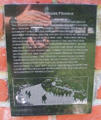 Souilly Marker on Laclede Monument image. Click for full size.