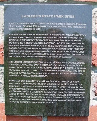Laclede's State Park Sites Marker on Lacled Monument image. Click for full size.