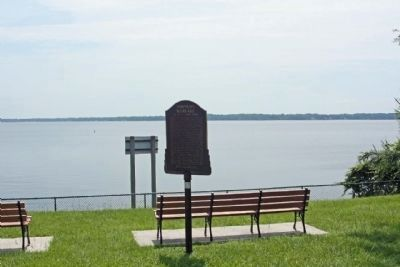 Torpedo Warfare on the St. Johns River Marker overlooking St. Johns River image. Click for full size.