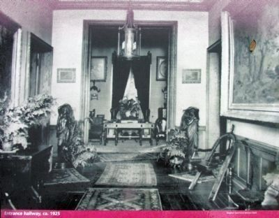 Entrance Hallway. ca. 1925 image. Click for full size.