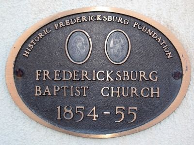 Fredericksburg Baptist Church<br>1854-55 image. Click for full size.