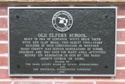 Old Elfers School Marker image. Click for full size.