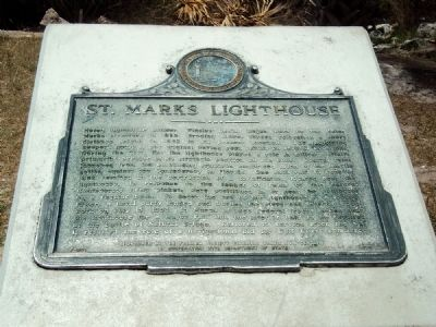 St. Marks Lighthouse Marker image. Click for full size.