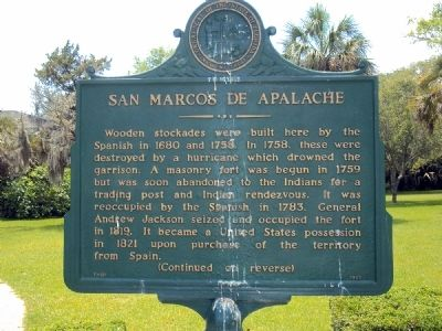 San Marcos de Apalache Marker image. Click for full size.