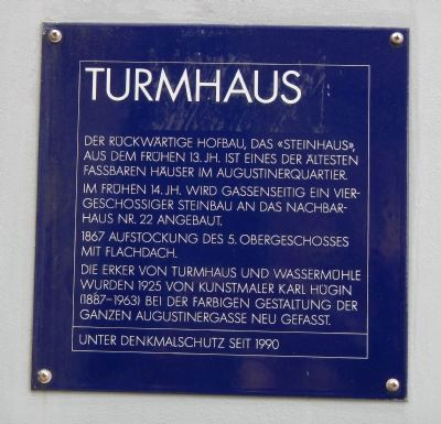 Turmhaus Marker image. Click for full size.