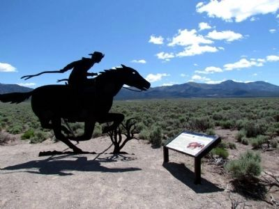 Strength and Endurance Marker and Pony Express Sculpture image. Click for full size.