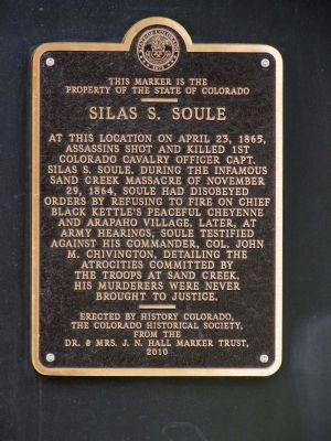 Silas S. Soule Marker image. Click for full size.