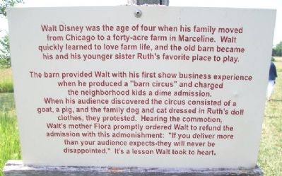 "Walt Disney's ""Barn Circus"" Marker image. Click for full size."