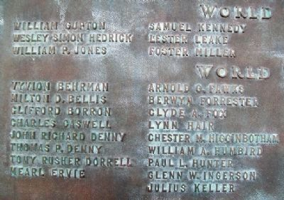 World Wars Memorial Honor Roll image. Click for full size.