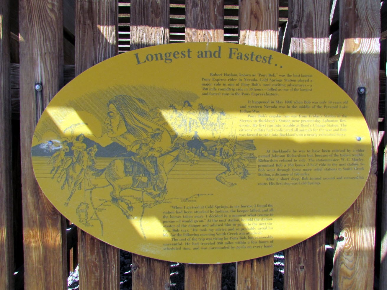 The Pony Express Marker