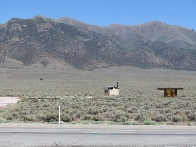View to East towards Marker and Cold Springs Station Location image. Click for full size.