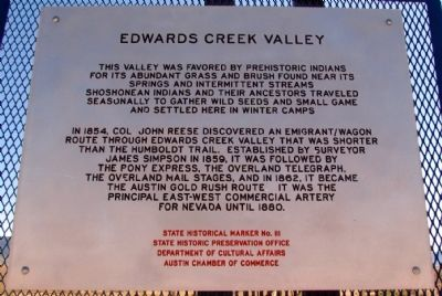 Edwards Creek Valley Marker image. Click for full size.
