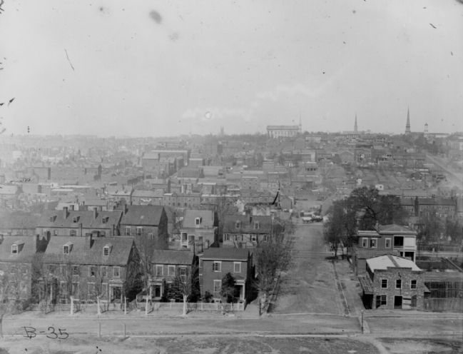 High-angle view toward the capitol <i>NARA 111-B-35</i> image. Click for full size.