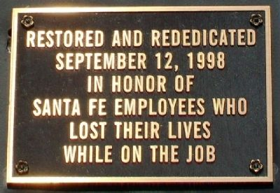 Santa Fe 2546 Dedication Marker image. Click for full size.