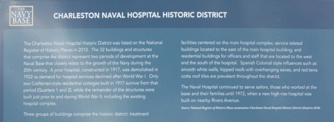 Charleston Naval Hospital Historic District Marker image. Click for full size.