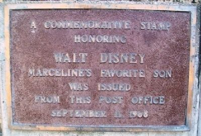 Walt Disney Post Office Marker image. Click for full size.