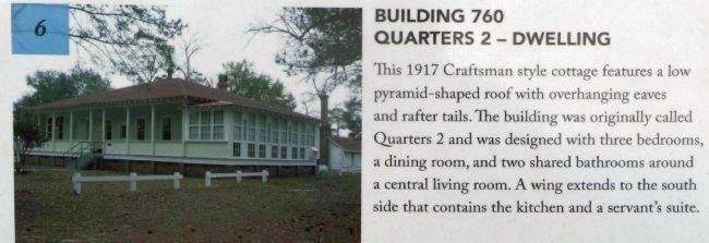 Quarters 2 Building 760 - cottage built in 1917 image. Click for full size.