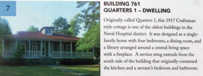 Building 761 Quarters 1 - cottages built in 1917 image. Click for full size.