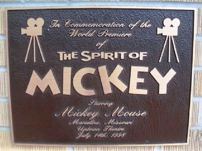 <i>The Spirit of Mickey</i> Debut Marker at Uptown Theater image. Click for full size.