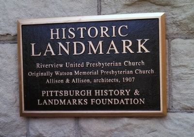 Riverview United Presbyterian Church Marker image. Click for full size.
