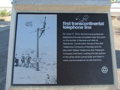 First Transcontinental Telephone Line Marker image. Click for full size.
