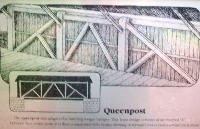 [Covered Bridge] Truss Structures and Truss Variations Marker - Queenpost image. Click for full size.