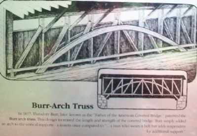 [Covered Bridge] Truss Structures and Truss Variations Marker - Burr-Arch Truss image. Click for full size.